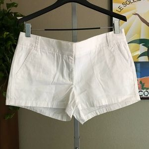"{J. CREW} White Chino Shorts 3"" Inseam Size 12"